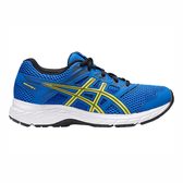 Asics Contend 5 GS [1014A049-401] 大童鞋 運動 耐磨 舒適 保護 透氣 亞瑟士 藍黃