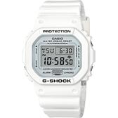 CASIO 卡西歐 G-SHOCK 經典人氣電子錶-白 DW-5600MW-7DR / DW-5600MW-7