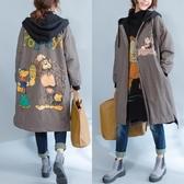 大碼女裝外套女胖mm2018新款韓版秋冬季韓版文藝寬鬆加絨加厚棉衣