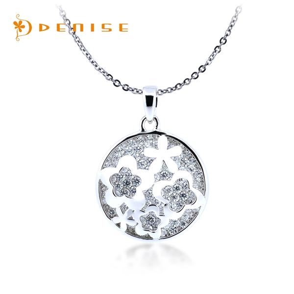 925純銀「秘密花園」項墜 / 銀飾珠寶 雙層設計 / 贈白鋼項鍊