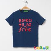 印花短袖T恤19綠松色-bossini男童