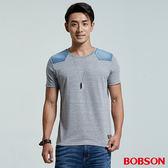 BOBSON  男款異素材剪接上衣(26024-83)