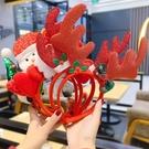 聖誕發箍老人雪人麋鹿鹿角頭箍聖誕節裝飾品...