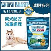 『寵喵樂旗艦店』Natural Balance 減肥系列《肥胖成犬減重調理配方》5LB