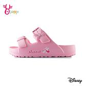 米妮兒童拖鞋 女童拖鞋 防水拖鞋 休閒拖鞋 可調整 迪士尼 MIT台灣製 I5731#粉紅◆OSOME奧森鞋業