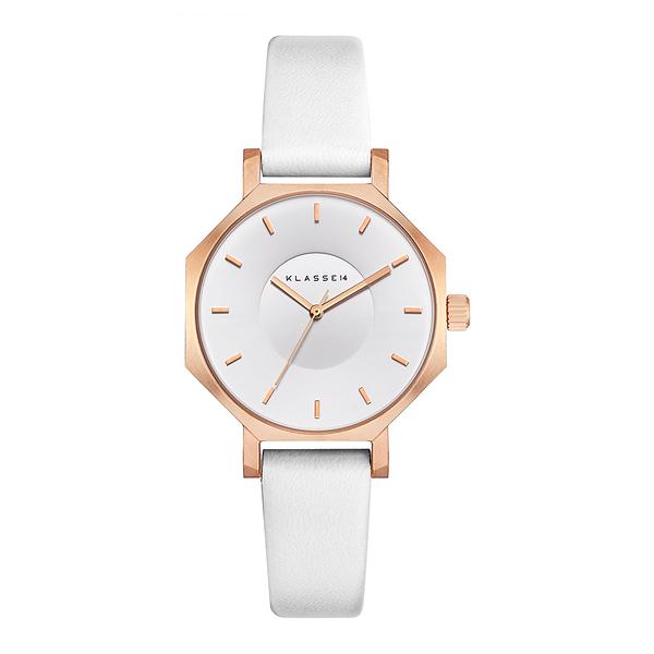 【台南 時代鐘錶 Klasse14】OK18RG003S 八角造型手錶 白 28mm 公司貨保固兩年
