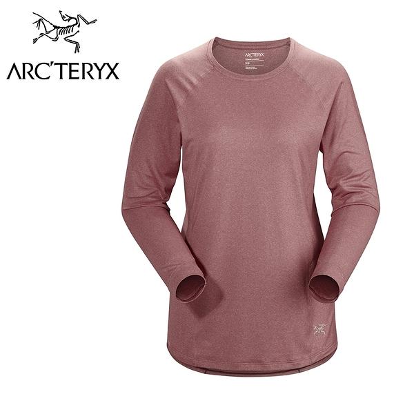 【Arc''teryx 始祖鳥】 Tolu LS 輕薄長袖圓領排汗衣 女款 摩曼粉 #20953
