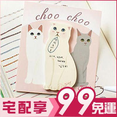 韓國可愛萌貓咪便條紙便利貼(一組約30張*10組入) (款式隨機)【AE14036-10】 i-Style居家生活