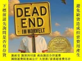 二手書博民逛書店紐伯瑞獎英語有聲罕見Dead End in Norvelt 6張