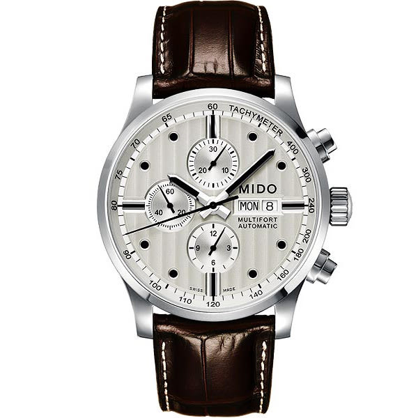 MIDO 美度 Multifort Chrono Valijoux計時碼錶-銀白/44mm M0056141603100