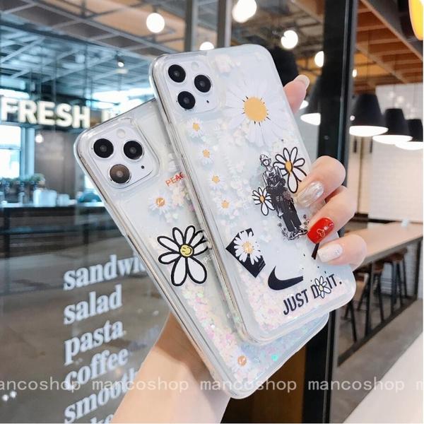 雛菊花流沙殼 紅米Note8 pro 紅米Note7 透明手機殼 潮牌卡通 紅米7 紅米6 保護殼保護套 全包邊軟殼