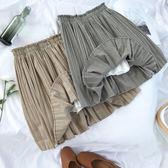 夏季新品正韓學院風復古格子百褶裙學生高腰蓬蓬半身裙短裙女 限時八五折