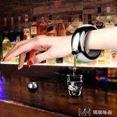 不銹鋼手環酒壺 便攜隨身壺手環小酒壺100ml戶外水壺金屬酒瓶        瑪奇哈朵