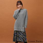 ❖ Winter ❖ 【SET ITEM】花柄細肩帶連身裙+斜扣寬鬆針織長版上衣 - Green Parks