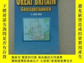 二手書博民逛書店BERNDTSON罕見MAP GREAT BRITAIN GROSSBRITANNIENY16611 Gre