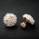 耳環 925純銀貓眼石-可愛雪花生日情人節禮物女耳針73gt29[時尚巴黎]