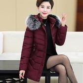 媽媽冬裝羽絨棉衣冬季中長新款加厚棉襖40歲50中老年女裝棉服外套