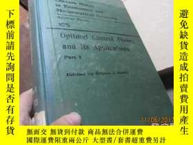 二手書博民逛書店optimal罕見control theory and its