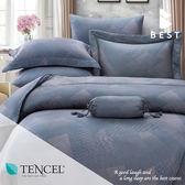 天絲床包兩用被四件式 加大6x6.2尺 克洛斯 100%頂級天絲 萊賽爾 附正天絲吊牌 BEST寢飾