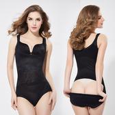 黑色/M L 膚色/S 塑身衣女 束腹褲無痕吊帶後脫式連體收腹收腰塑身連體衣產後保養美體衣C0330