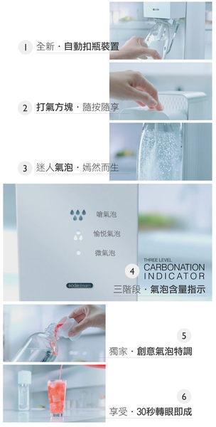 ◤SodaStream SOURCE◢ 氣泡水機 -白色 全新自動扣瓶裝置