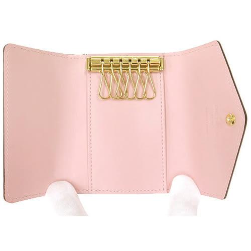 茱麗葉精品 全新精品Louis Vuitton LV M61233 Vernis皮革經典壓花6孔鑰匙包.粉紅(預購)