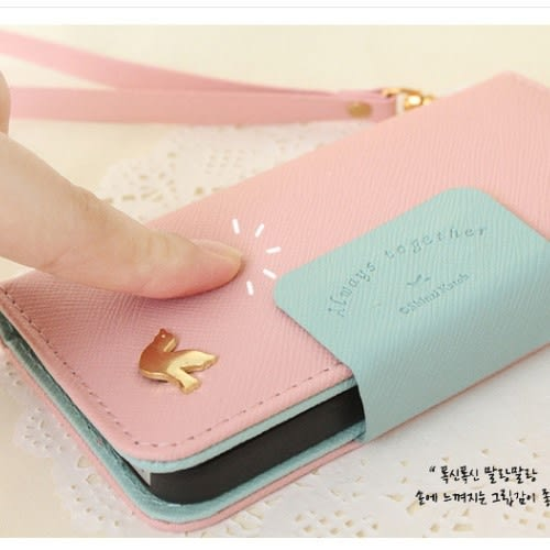 【培菓平價寵物網】  韓國小飛鳥iphone5 5c翻開式皮套手機殼手機皮套