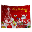 聖誕布置/交換禮物/送1.5米星星燈//聖誕節布置裝飾掛布-發禮物囉(沙灘巾 背景布 )【半島良品】
