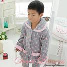 抗寒保暖睡袍 兒童褲組 珊瑚絨點點印花 ...