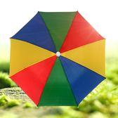 戶外兒童成人傘帽頭戴帽傘松緊帶晴雨傘防曬防風釣魚傘玩具折疊傘  古梵希
