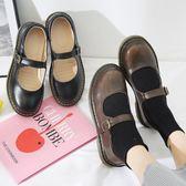 小皮鞋女學生新款日系Lolita瑪麗珍單鞋韓版原宿復古一字扣娃娃鞋 米娜小鋪