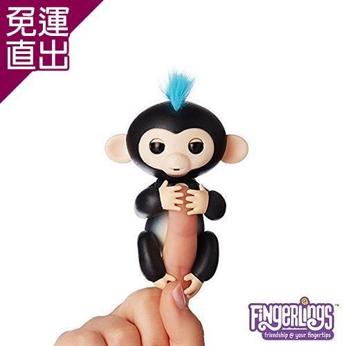 WowWee 正版互動手指猴 Fingerlings 電子智能竉物猴 FINN 黑色【免運直出】