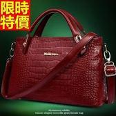 手提包-真皮原創精品時尚定型鱷魚紋側背女包包3色68m5【巴黎精品】