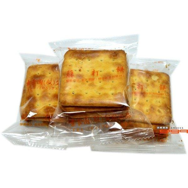 【吉嘉食品】素食園 奶油蘇打餅(單包裝) 600公克,奶素{3019-3}[#600]