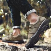 贊途戶外登山鞋手工鞋春季低幫系帶男鞋