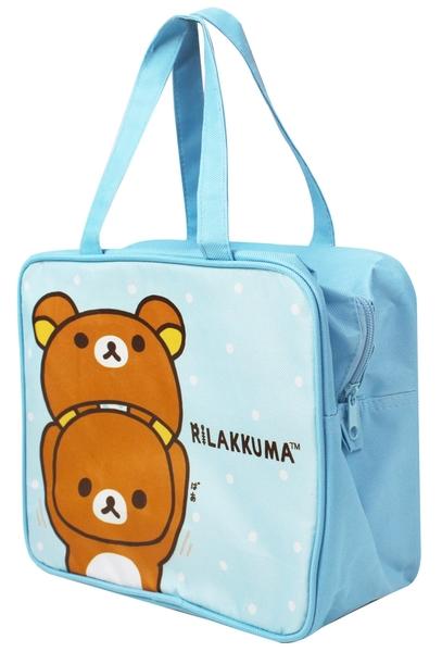 Rilakkuma 拉拉熊 方型手提便當籃 便當袋 藍 RKB11111A