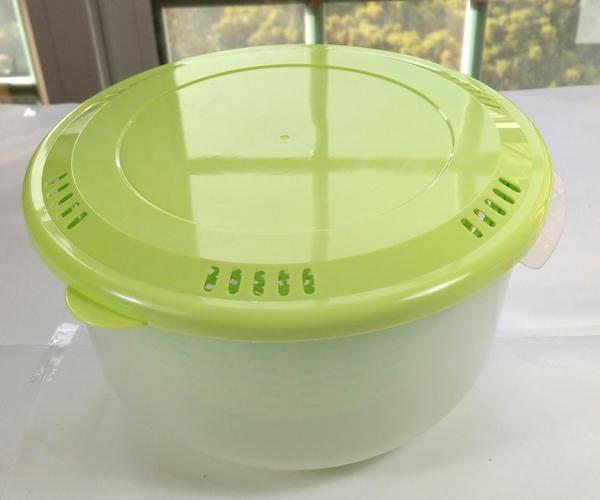 【卡漫城】 特價 可利鍋 瀝水籃 蘋果綠 廚房 多功能 透明塑膠 食品級 蔬果清洗 提籃 瀝水架 AMONKA