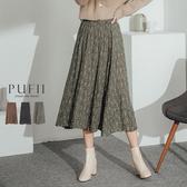 現貨◆PUFII-裙子 碎花鬆緊腰中長裙-1126 冬【CP17628】