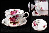 聖誕交換禮物-陶瓷咖啡杯套裝歐式英式手工花茶杯具套裝高擋骨瓷杯
