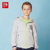 JJLKIDS 男童 美式學院風休閒外套(麻灰)