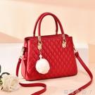 結婚包包新娘包2021新款結婚用大紅色婚包時尚大容量婚禮手提包潮 蘿莉新品