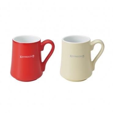 fujidinos-《KEVNHAUN》陶瓷馬克杯雙色2件組(紅x米)