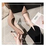 高跟鞋女細跟春季新款韓版尖頭銀色職業網紅百搭法式少女性感單鞋 酷斯特數位3c