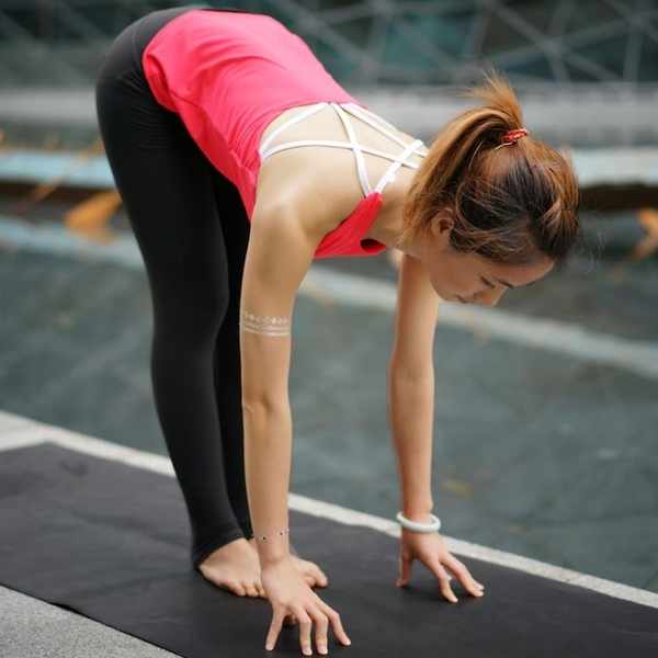 [超豐國際]瑜伽運動身背心 速干含胸墊舞蹈健身運動美背背心