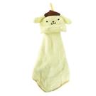 小禮堂 布丁狗 可掛式造型擦手巾 吸水毛巾 擦手毛巾 30x30cm (黃 大臉) 4990270-12804