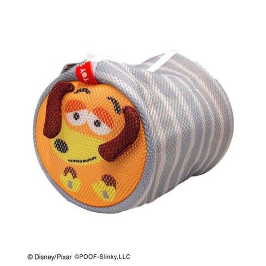 〔小禮堂〕玩具總動員 彈簧狗 大臉造型圓筒洗衣袋《灰橘》洗衣網袋 4992831-14580