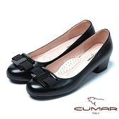 ★2018春夏新品★【CUMAR】舒適真皮經典裝飾舒適羊皮高跟鞋(黑色)