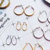 耳環 復古 霧面 造型 金屬 橢圓 圓形 耳釘 耳環【DD1806038】 ENTER  10/04