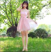 雙十一返場促銷禮服伴娘禮服女2018新款韓版短款小禮服連衣裙聚會伴娘裙姐妹團伴娘服