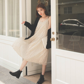 MUMU【O63009】愛心雪紡吊帶連身長裙
